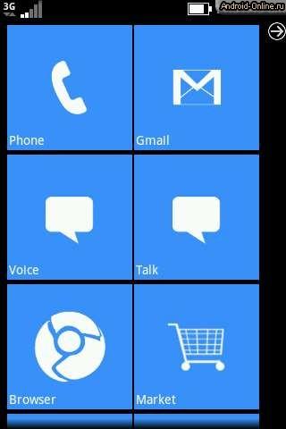 Интерфейс Wp7 Android